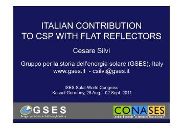 Intervento - Gruppo per la storia dell'energia solare - GSES