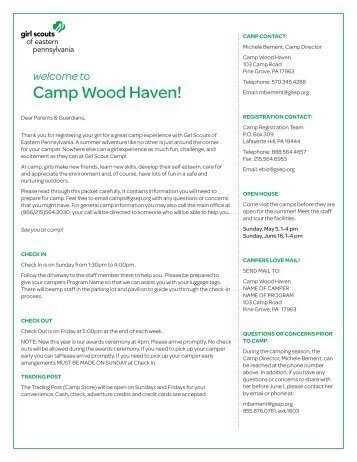 Woodhaven - Girl Scouts of Eastern Pennsylvania