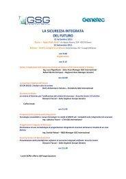 Programma Convegno - GSG International S.r.l.