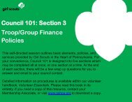 Council 101: Section 3 Troop/Group Finance Policies - Girl Scouts in ...