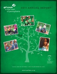 2011 ANNUAL REPORT - Girl Scouts in the Heart of Pennsylvania