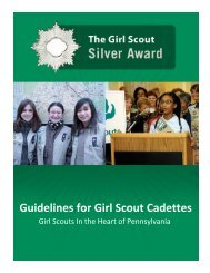 Silver Award Booklet - Girl Scouts in the Heart of Pennsylvania