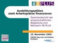 Zwischenbericht zum Netzwerk 48plus (pdf-Datei ... - Gsi-consult.de