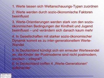 1. Werte lassen sich Weltanschauungs-Typen ... - Gsi-consult.de