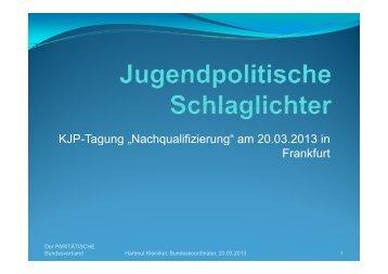 Hartmut Kleinikel: Jugendpolitsche Schlaglichter - Gsi-consult.de