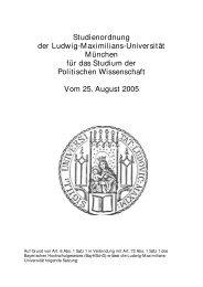 Studienordnung - Geschwister-Scholl-Institut für Politikwissenschaft ...
