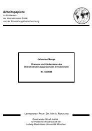 Chancen und Hindernisse des Demokratisierungsprozesses in ...