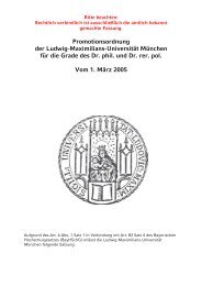 Promotionsordnung der Ludwig-Maximilians-Universität München ...