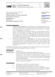 Seminarplan - Geschwister-Scholl-Institut für Politikwissenschaft - LMU