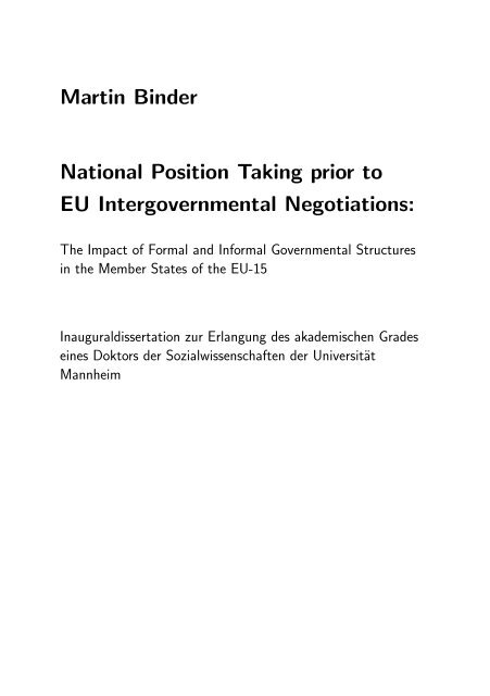 Martin Binder National Position Ta ing prior to EU Intergovernmental ...