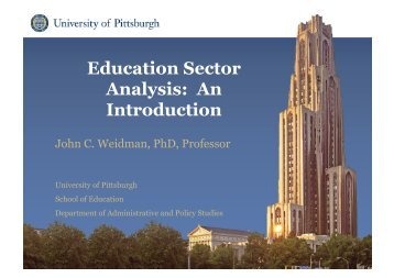 Education Sector Analysis: An Introduction
