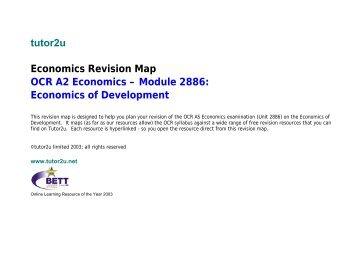 tutor2u Economics Revision Map OCR A2 Economics – Module ...