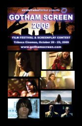 download the 2009 program - Gotham Screen International Film ...