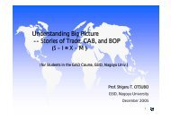 Understanding Big Picture -- Stories of Trade, CAB, and BOP