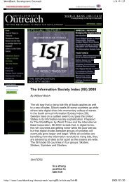 The Information Society Index (ISI) 2000