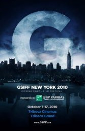 download the 2010 program - Gotham Screen International Film ...