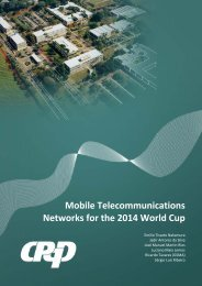 Mobile Telecommunications Networks for the 2014 World Cup - GSMA