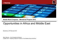 Opportunities in Africa and Middle East - GSMA