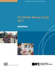 IFC Mobile Money Study 2011: Nigeria - GSMA