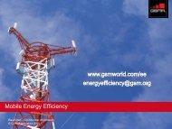 Energy Per Connection - GSMA