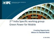 2nd India Specific working group: Green Power for Mobile - GSMA