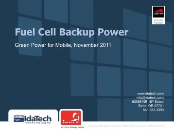 Fuel Cell Backup Power - GSMA