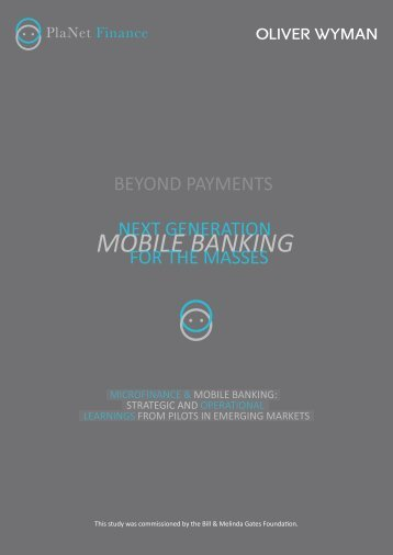 Next Generation Mobile Banking for the Masses - GSMA