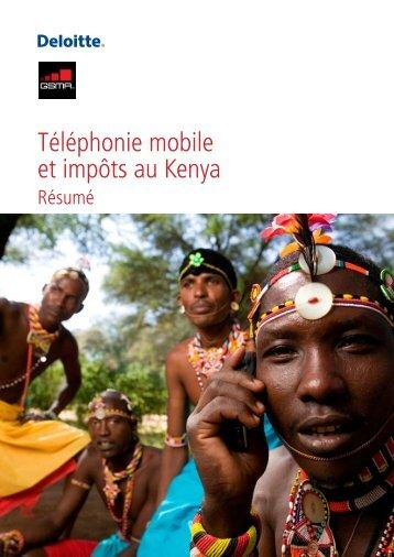 Téléphonie mobile et impôts au Kenya - GSMA