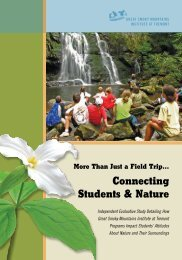Download as PDF - Great Smoky Mountains Institute at Tremont