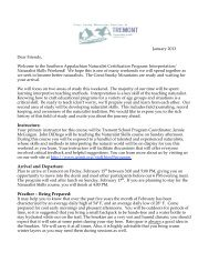 Letter - Great Smoky Mountains Institute at Tremont