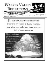 spring 2001 - Great Smoky Mountains Institute at Tremont