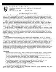 Ozone Bio-monitoring Garden Project An Ozone Bio-monitoring ...