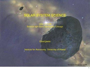 Solar System Studies