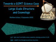 Towards a GSMT Science Case: Large Scale Structure and ...