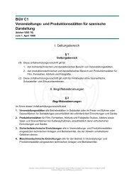 BGV C1 Veranstaltungs- und Produktionsstätten für szenische ...
