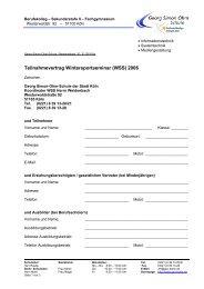 Info und Teilnahmeerklärung 2006 - Georg-Simon-Ohm-Schule