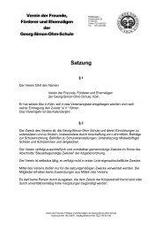 Satzung - Georg-Simon-Ohm-Schule
