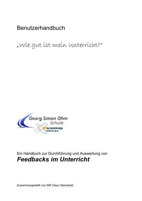 Benutzerhandbuch - Georg-Simon-Ohm-Schule