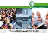 "Universitätslehrgang ""Public Health 2012 – 2014 - G´sund Online"