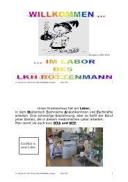 im Labor des LKH Rottenmann - G´sund Online