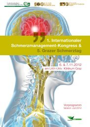 1. Internationaler Schmerzmanagement-Kongress ... - G´sund Online