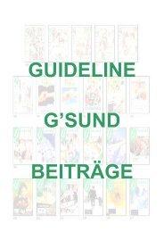 Guideline - G´sund Online
