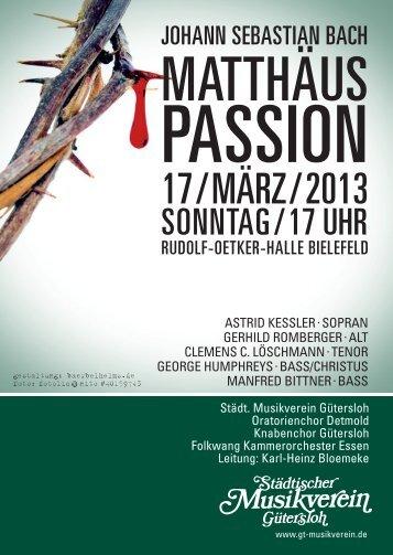 PASSION - Städtischer Musikverein Gütersloh eV