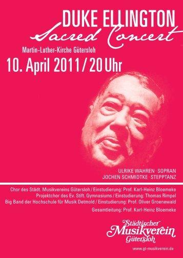 Duke ellington - Städtischer Musikverein Gütersloh eV