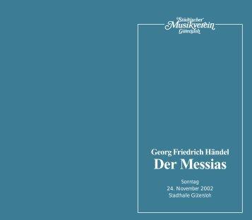 Der Messias - Städtischer Musikverein Gütersloh eV
