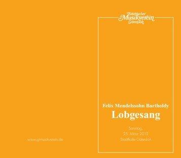 Lobgesang - Städtischer Musikverein Gütersloh eV