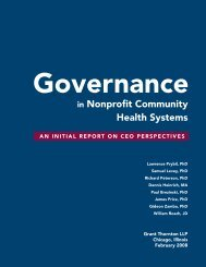 Governance in Nonprofit Community Health Systems