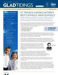 ST. FRANCIS AMONG NATION'S BEST CATHOLIC HIGH SCHOOLS