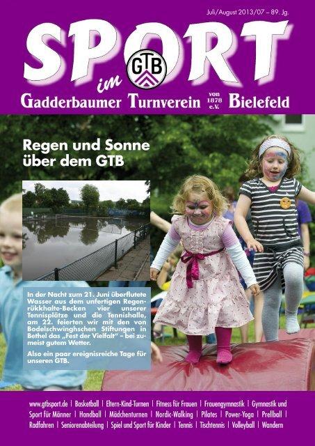 Regen und Sonne über dem GTB - Gadderbaumer Turnverein v ...