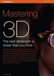 Mastering 3D Mastering 3D